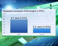 Продажи концерна Volkswagen в 2013 г.