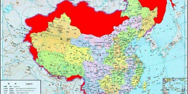 Меркель, Китай, подаренная карта, украинские сми в своем репертуаре