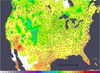 Засуха в США.