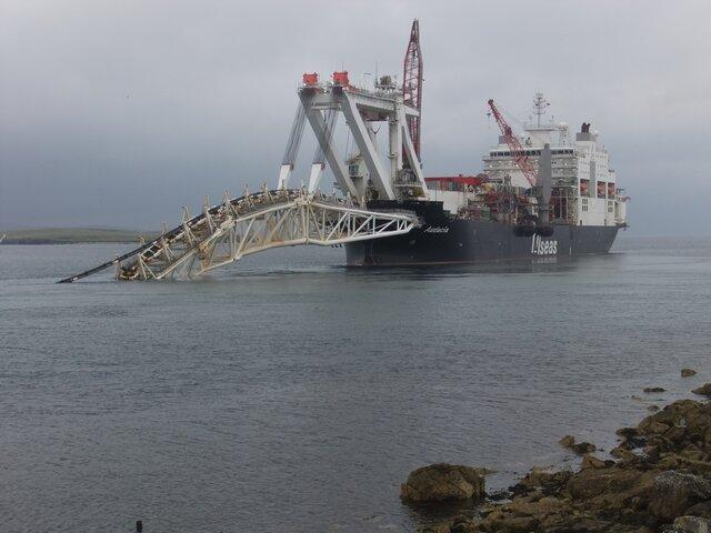 Великобритания: Газопроводы подвергают риску деятельность Шетландский рыбаков