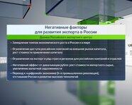 Негативные факторы для развития экспорта в России