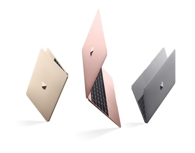 Apple представила MacBook вцвете «розовое золото»