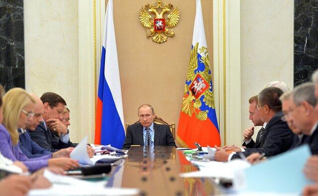 На заседании президиума Экономического совета. Кремль 25 мая