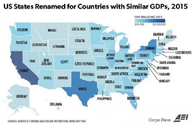 Сравнения американских штатов.