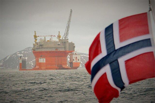 Добыча нефти вНорвегии намаксимуме за5 лет