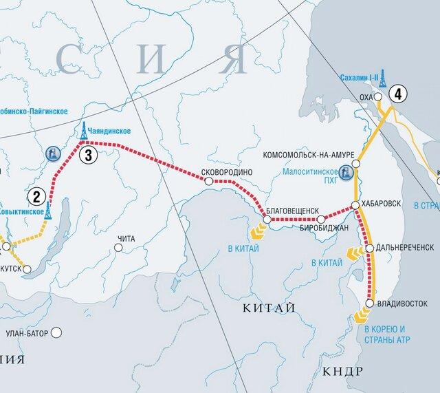 «Газпром» сократил инвестиции в«Силу Сибири»