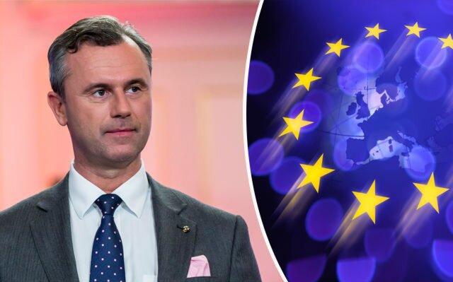 Ультраправый кандидат впрезиденты Австрии выступил за«усовершенствованныйЕС»