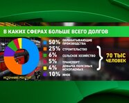 Россия: в каких сферах больше всего долгов по зарплате