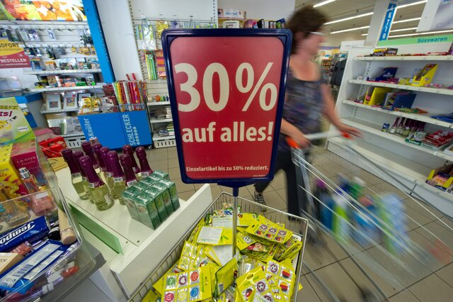 Годовая инфляция вГермании вконце осени составила 0,8%, как и предполагалось