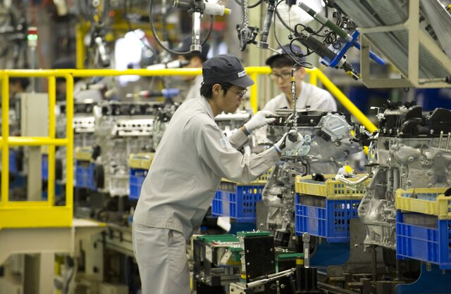 Деловая активность впромсекторе Китая увеличилась кконцу осени сильнее ожиданий