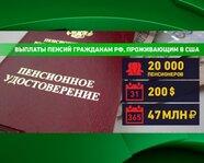 Выплаты пенсий гражданам России, проживающим в США