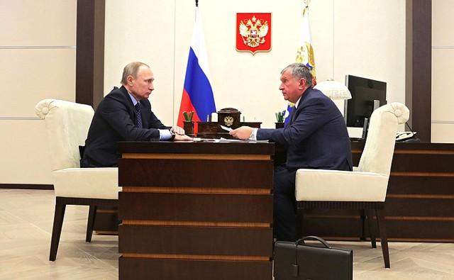 """Сечин доложил Путину об итогах и планах """"Роснефти"""""""