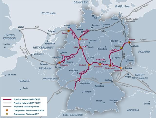 """""""Газпром"""" продаст долю в сети газопроводов Германии"""
