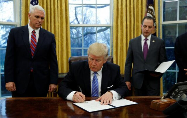 Президент Трамп подписал указ о выходе США из ТТП