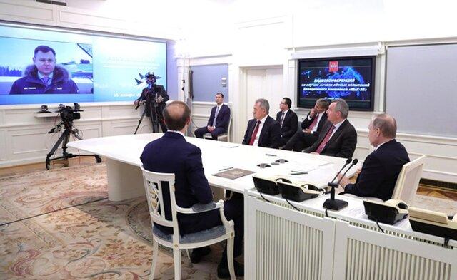 Путин повидеосвязи увидел тестирования МиГ-35