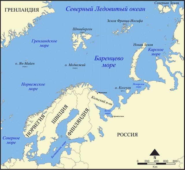 Вюжной части Баренцева моря отыскали большие запасы нефти