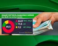 Общий портфель выданных займов (на 30 сентября 2016 года)
