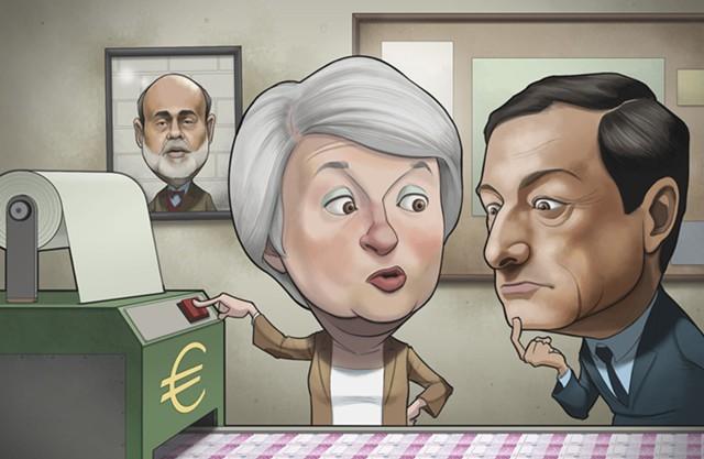 ЕЦБ обошел ФРС по объему активов на балансе