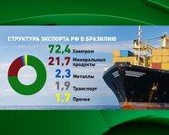 Структура экспорта России в Бразилию
