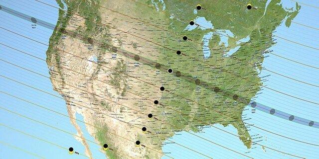 Солнечное затмение лишит США 9 тыс. мегаватт энергии
