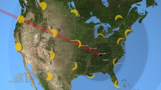 Сайт NASA обвалился из-за трансляции «великого солнечного затмения»