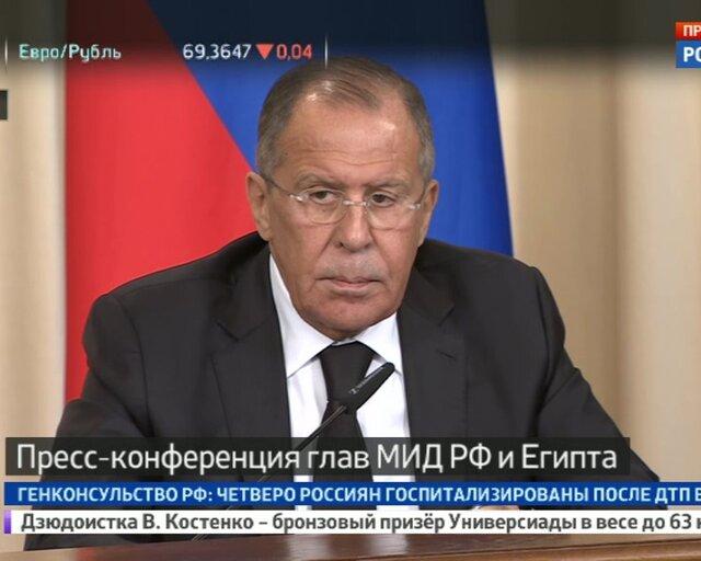 Пресс-конференция глав МИД России и Египта