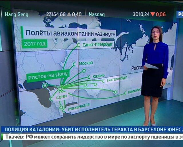 Южный Азимут: уже определены рейсы и направления новой компании