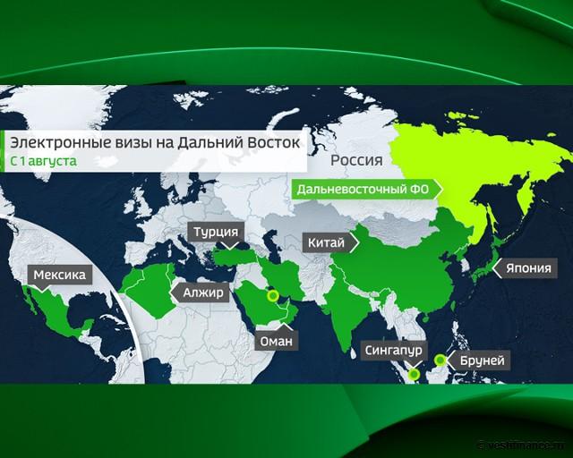 Электронные визы на Дальний Восток