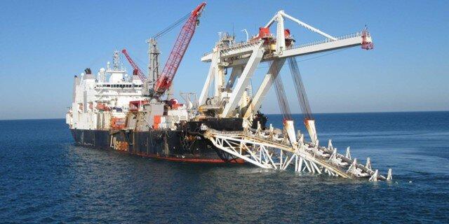 Газпром проложил 220 километров газопровода «Турецкий поток» поморю