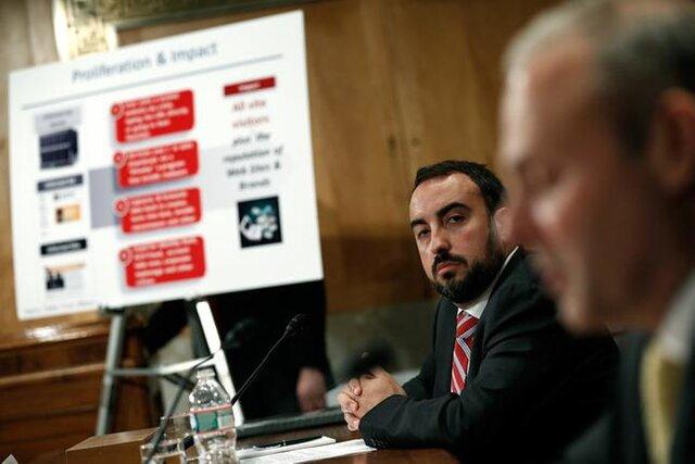 Алекс Стамос на слушаниях в Сенате США 2014