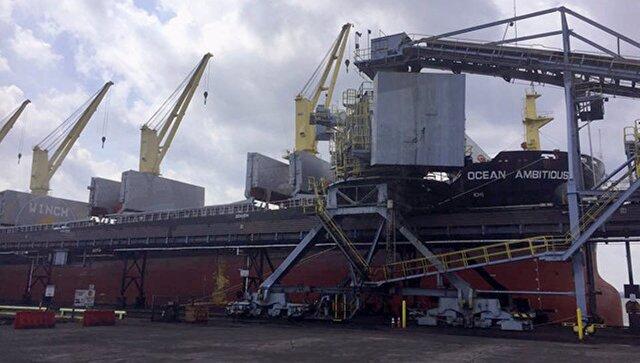 ВУкраинское государство прибыл 1-ый корабль с североамериканским углем
