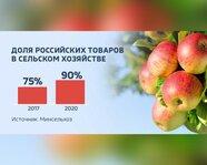 Доля российских товаров в сельском хозяйстве
