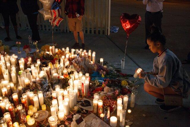 ВСША объявлен пятидневный траур пожертвам трагедии вЛас-Вегасе