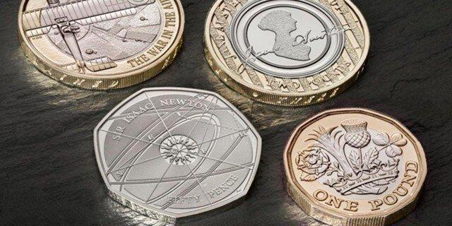 Англия прощается скруглой монетой в1 фунт