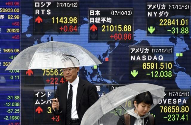 Азиатские акции на максимуме за 10 лет