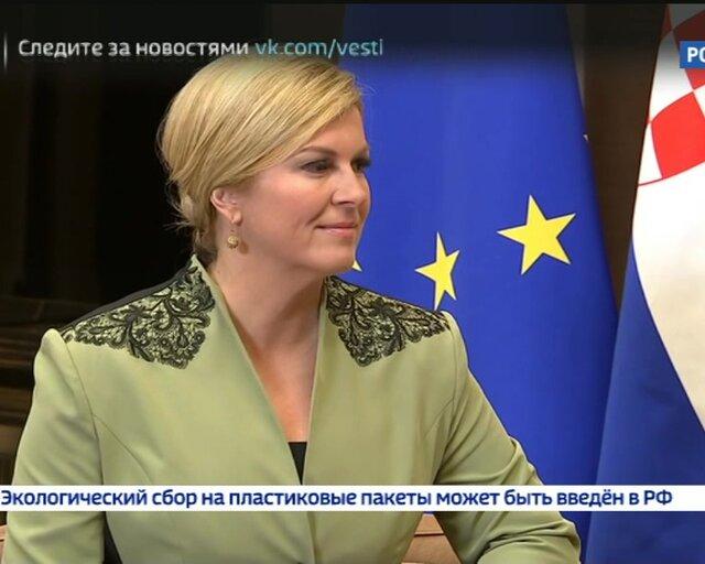 Путин обсудил с главой Хорватии перспективное сотрудничество