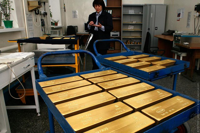 В ЦБР выступают за увеличение доли золота в резервах
