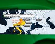 География проблем с поставками газа через станцию Баумгартене