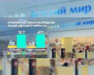 """Отмененные планы по продаже акций """"Детского мира"""""""