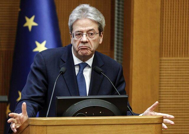 Премьер-министра Италии Паоло Джентилони EPA-EFE  GIUSEPPE LAMI