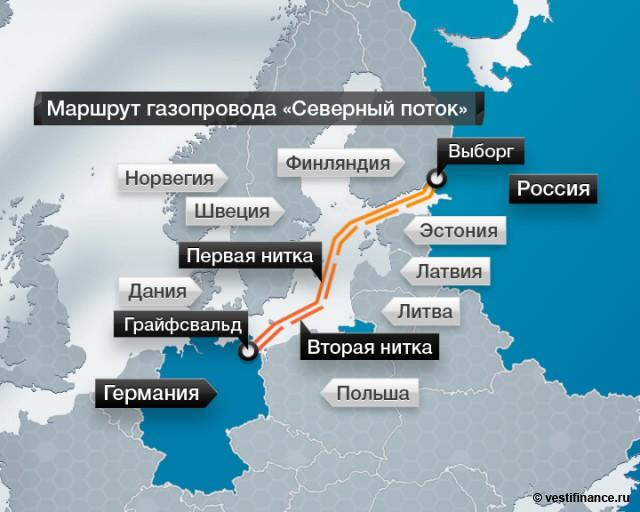 """Маршрут газопровода """"Северный"""