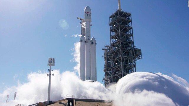 Разгонный блок ракеты Falcon Heavy разбился