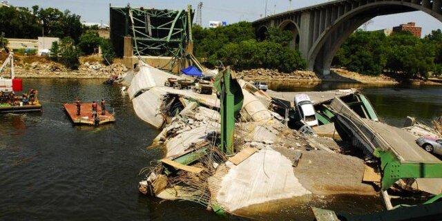 50 тысяч мостов в США на грани разрушения