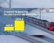 """Москва-Иваново: стоимость билетов на """"Ласточку"""""""
