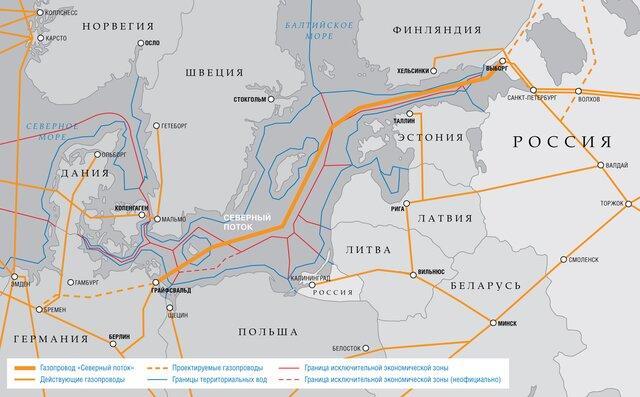 Германия начала подготовительные работы кпрокладке морского участка «Северного потока-2»