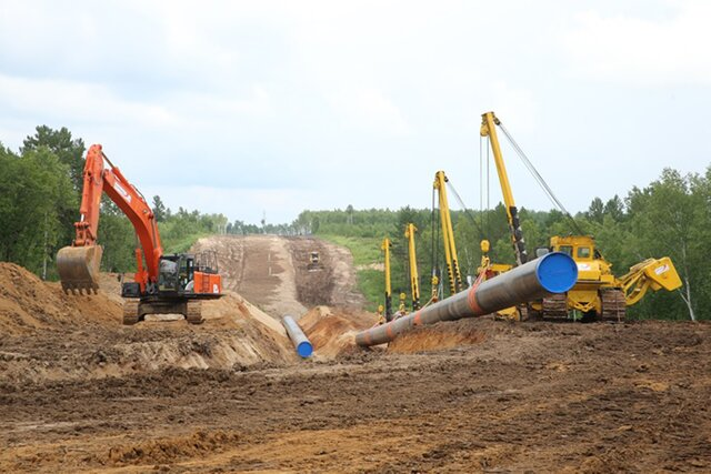 «Газпром» ксередине мая построил неменее 83% газопровода «Сила Сибири»
