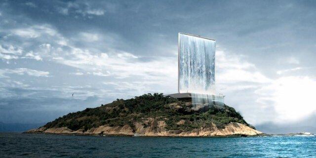 В башне Solar City на островке